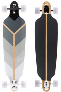 Voltage Longboard Drop Through Komplettboard Directional Grey 39.75 x 10 inch - Complete - Special Edition mit Koston Kugellagern