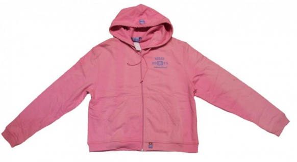 Rules Skatewear Damen Pullover Zip Hoodie Pink Sweater 1 B Ware