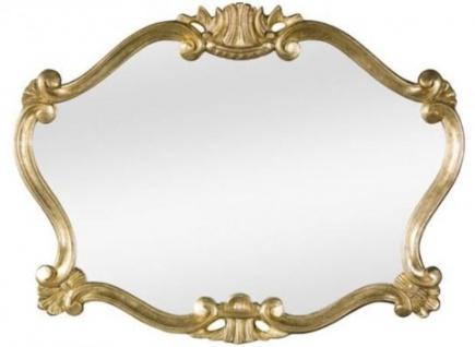 Casa Padrino Luxus Barock Wandspiegel Gold 92 x 4 x H. 70 cm - Prunkvoller Spiegel im Barockstil - Barock Möbel