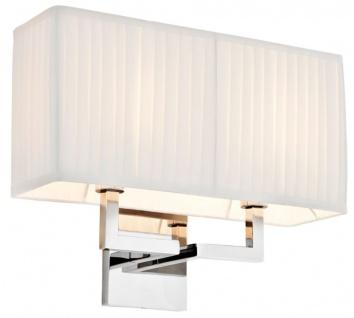 Casa Padrino Designer Wandleuchte Silber 36 x 13, 5 x H. 27 cm - Luxus Kollektion