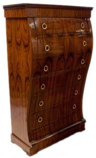 Casa Padrino Art Deco Kommode mit 6 Schubladen Braun 95 x 45 x H. 155 cm - Mahagoni Schubladenschrank - Wohnzimmerschrank - Art Deco Möbel