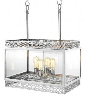 Casa Padrino Luxus Kronleuchter Silber 60 x 42 x H. 84 cm - Hotel Restaurant Möbel - Vorschau 2