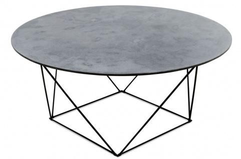 Casa Padrino Luxus Couchtisch mit einer mineralbeschichteten Tischplatte 90 x H. 40 cm - Wohnzimmermöbel