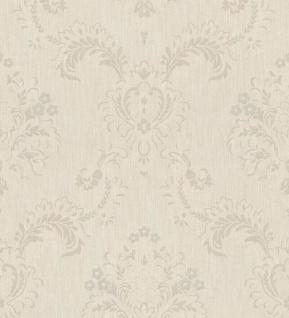 Casa Padrino Barock Textiltapete Beige / Grau 10, 05 x 0, 53 m - Hochwertige Wohnzimmer Tapete im Barockstil