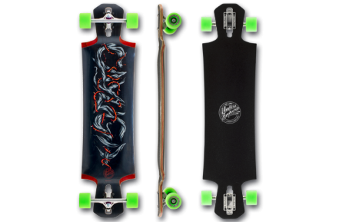 Mindless Voodoo Complete Longboard Cayuga II Black/Green Drop Through - Dropthrough Profi Longboard! Special Edition mit Koston Kugellagern!!!