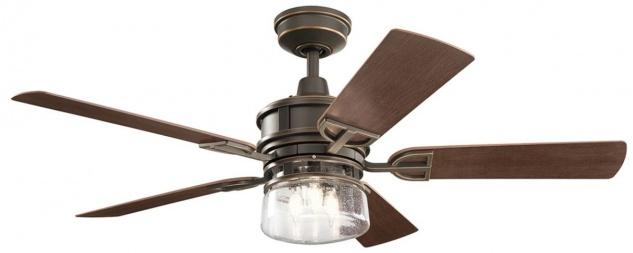 Casa Padrino Luxus Deckenventilator mit LED Beleuchtung und Fernbedienung Bronze / Braun 132 x H. 48 cm - Luxus Qualität
