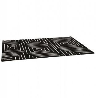 Casa Padrino Designer Teppich 160 x 230 cm Schwarz/ Weiß Design - Läufer - Vorschau 2