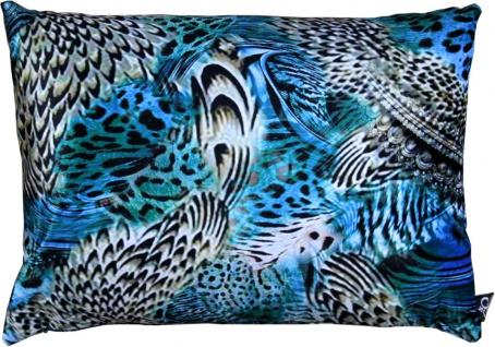 Casa Padrino Luxus Deko Kissen Colorado Feathers Mehrfarbig 35 x 55 cm - Feinster Samtstoff - Luxus Kollektion