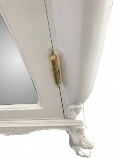 Casa Padrino Barock Kleiderschrank Weiß Hochglanz B 110 x H 230 cm Schlafzimmer Schrank - Antik Stil - Vorschau 3