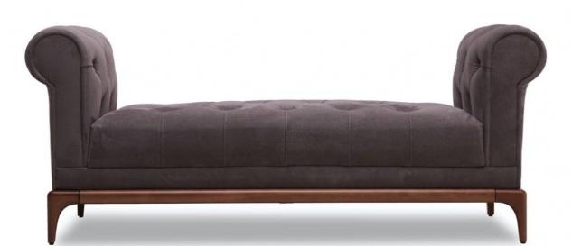 Casa Padrino Luxus Chesterfield Sitzbank Lila / Braun 150 x 58 x H. 67 cm - Moderne gepolsterte Massivholz Bank mit edlem Samtstoff - Luxus Qualität - Vorschau 2