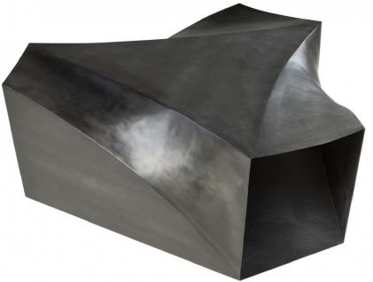 Casa Padrino Designer Stahl Couchtisch Dunkelgrau 107 x 120 x H. 41 cm - Wohnzimmertisch - Designer Wohnzimmer Möbel - Vorschau 3