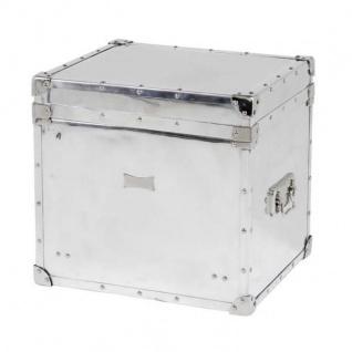 Casa Padrino Luxus Flieger Koffer Schrank Truhe Aluminium Poliert - Art Deco Barock Jugendstil Kofferschrank