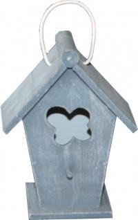 Casa Padrino Designer Vogelhaus Mini Blau- Vogelpalast