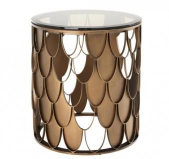 Casa Padrino Luxus Art Deco Designer Beistelltisch 50 x H. 55 cm - Luxus Qualität