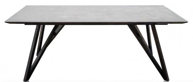Casa Padrino Esstisch mit mineralbeschichteter Tischplatte - Luxus Esszimmermöbel