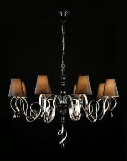 Casa Padrino Barock Kristall Decken Kronleuchter Schwarz 100 x H 67 cm Antik Stil - Möbel Lüster Leuchter Hängeleuchte Hängelampe
