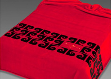 Pierre Cardin Designer Luxus Tagesdecke Samtweich 240 x 260 cm Schlafzimmer Decke Kuscheldecke Rot NA550