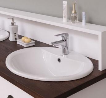 Casa Padrino Landhausstil Doppelwaschtisch Weiß / Dunkelbraun 147 x 51 x H. 110 cm - Massivholz Waschbeckenschrank - Badezimmer Möbel im Landhausstil - Vorschau 4