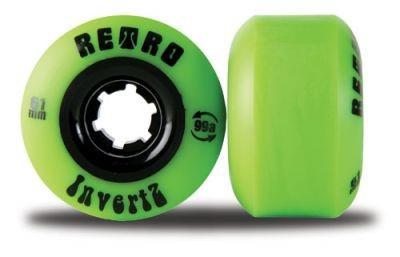 Retro Longboard Rollen Set InvertZ Classic 99A 61mm Wheel Set Wheels Skateboard