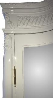 Casa Padrino Barock Kleiderschrank Weiß Hochglanz B 110 x H 230 cm Schlafzimmer Schrank - Antik Stil - Vorschau 2