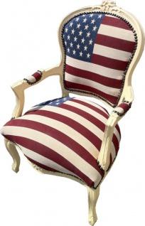 Casa Padrino Barock Salon Stuhl USA Design / Creme - Vorschau 3