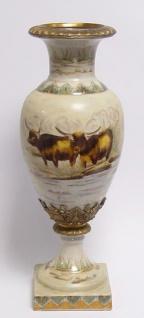 Casa Padrino Luxus Porzellan Vase auf Sockel Durchmesser 16, 5 x H. 45 cm