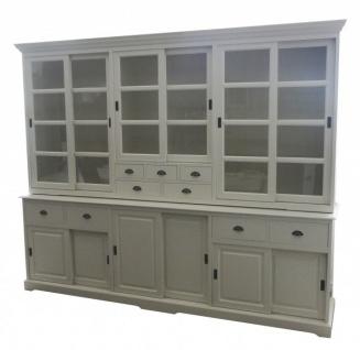 Großer Shabby Chic Landhaus Stil Schrank mit 6 Türen und 9 Schubladen von Casa Padrino - Buffetschrank - Schrank Esszimmer