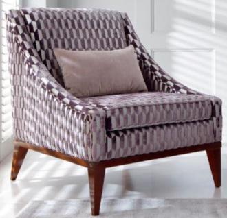 Casa Padrino Luxus Art Deco Wohnzimmer Sessel Lila / Silber / Braun 75 x 86 x H. 89 cm - Luxus Kollektion