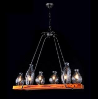 Casa Padrino Barock Decken Kronleuchter Dunkel Braun 91 x H 83, 3 cm Antik Stil - Möbel Lüster Leuchter Deckenleuchte Hängelampe
