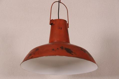 Casa Padrino Vintage Industrie Hängeleuchte Antik Stil Rot Metall - Restaurant - Hotel Lampe Leuchte - Industrial Leuchte