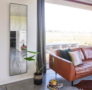 Casa Padrino Designer Wandspiegel Schwarz 41 x 2 x H. 174 cm - Wohnzimmer Spiegel - Schlafzimmer Spiegel - Badezimmer Spiegel - Garderoben Spiegel - Luxus Kollektion