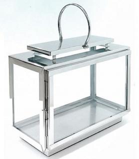 Casa Padrino Luxus Laterne Silber 42 x 19 x H. 33 cm - Hotel & Restaurant Deko Accessoires