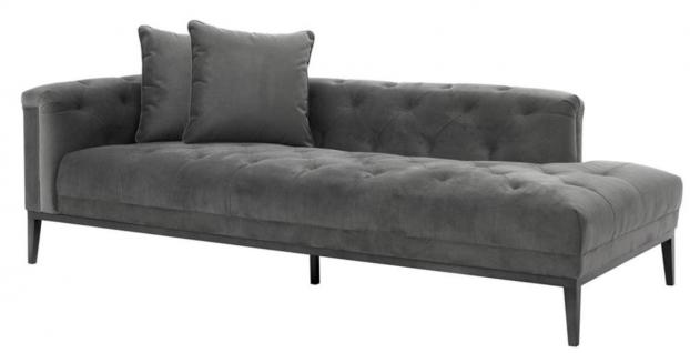 Casa Padrino Luxus Sofa Dunkelgrau Linksseitig 220 x 96 x H. 66 cm - Hotel Möbel