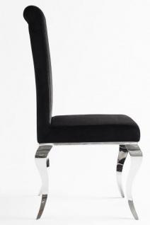 Casa Padrino Luxus Esszimmer Set Schwarz / Silber - Esstisch 180 cm + 4 Stühle - Luxus Qualität - Modern Barock - Vorschau 4