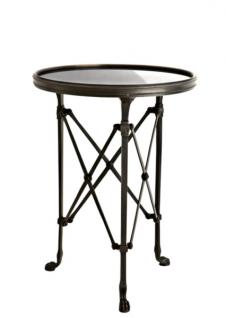 Casa Padrino Luxus Art Deco Designer Beistelltisch Anthrazit 42 x H. 55 cm - Luxus Tisch