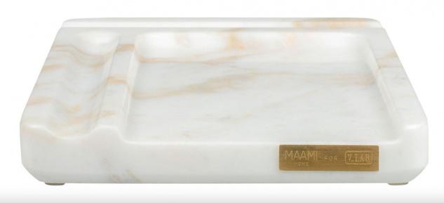 Casa Padrino Luxus Handy Ablage Marmor Weiß Schreibtischablage für Mobiltelefone - Luxus Home Accessoires