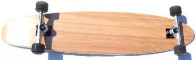 Clans Longboard Kicktail Komplettboard 43.0 x 9.0 inch - Complete Longboard Natural