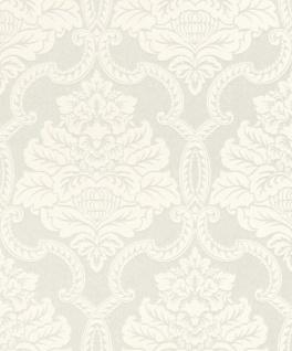 Casa Padrino Barock Textiltapete Weiß 10, 05 x 0, 53 m - Barock Tapete - Deko Accessoires