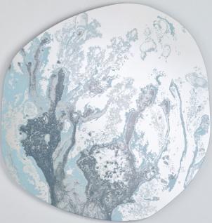 Casa Padrino Designer Spiegel Blau 100 x H. 105 cm - Garderobenspiegel - Wohnzimmer Spiegel - Schlafzimmer Spiegel - Luxus Qualität