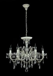 Casa Padrino Barock Kristall Decken Kronleuchter Cream Gold 62 x H 52 cm Antik Stil - Möbel Lüster Leuchter Hängeleuchte Hängelampe