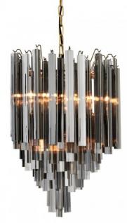 Casa Padrino Luxus Hängeleuchte Eiszapfen Smoke Glas - Art Deco Hotel / Restaurant Lampe - Eindrucksvolle Leuchte