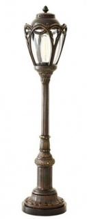 Casa Padrino Luxus Standleuchte Messing Massiv Lincoln Park - Leuchte Lampe - Tischleuchte Tischlampe