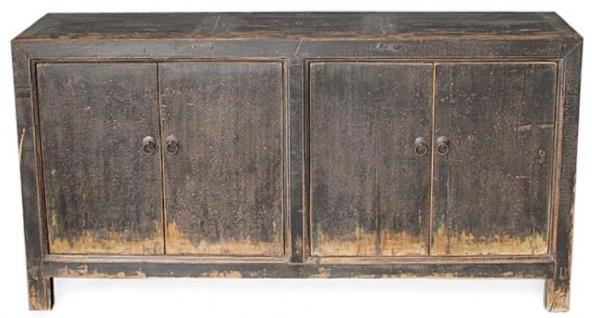 Casa Padrino Landhausstil Schrank mit 4 Türen Antik Braun 168 x 45 x H. 87 cm - Landhausstil Möbel