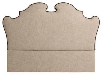 Casa Padrino Designer Bett-Kopfteil Beige 200 x H. 144 cm - Luxus Qualität