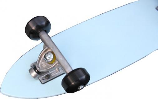 Oldschool Skateboard Cruiser 70s Style Skyblue Mit 125 Randal RII Trucks, 58mm Black Wheels - Longboard Cruiser - Vorschau 3