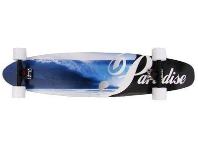 Paradise Wave Fade Kicktail Komplett Longboard Longboard Komplettboard