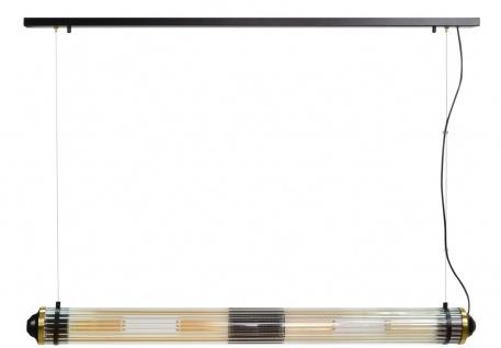 Casa Padrino Luxus Hängeleuchte Schwarz / Messing - Luxus Qualität - Vorschau 5