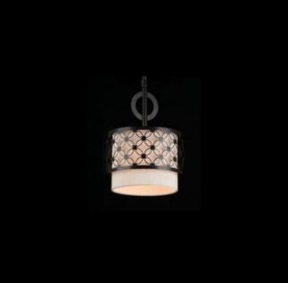 Casa Padrino Barock Decken Kronleuchter Dunkel Wenge 22, 5 x H 29, 9 cm Antik Stil - Möbel Lüster Leuchter Deckenleuchte Hängelampe