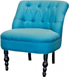 Luxus Barock Salon Stuhl Paris Petrol aus der Luxus Kollektion von Casa Padrino - Hotel Cafe Restaurant Möbel Einrichtung