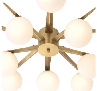 Casa Padrino Luxus Kronleuchter Antik Messingfarben / Weiß Ø 90 x H. 20 cm - Luxus Möbel - Vorschau 4